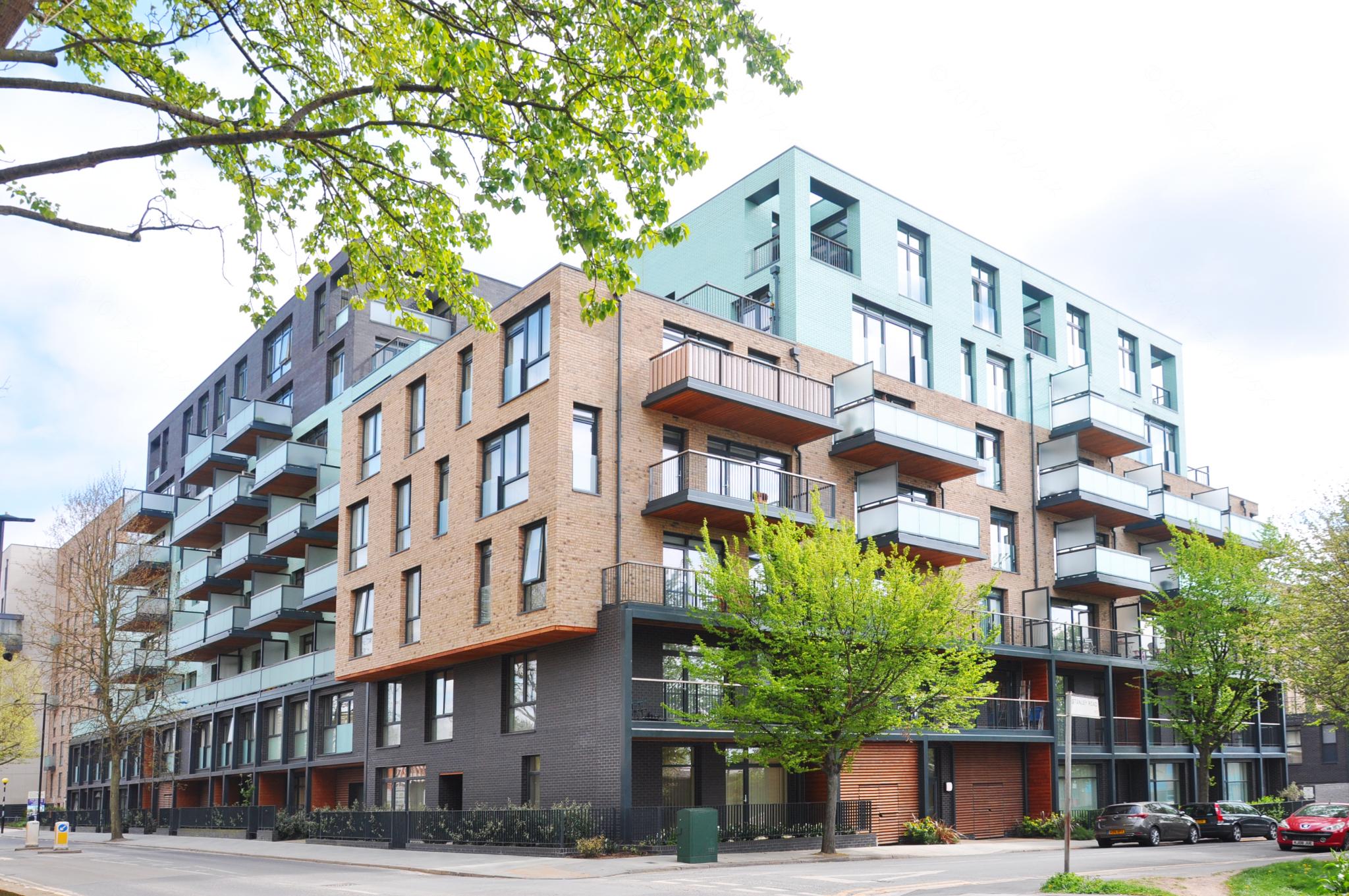ロンドンのマンションの建築設計