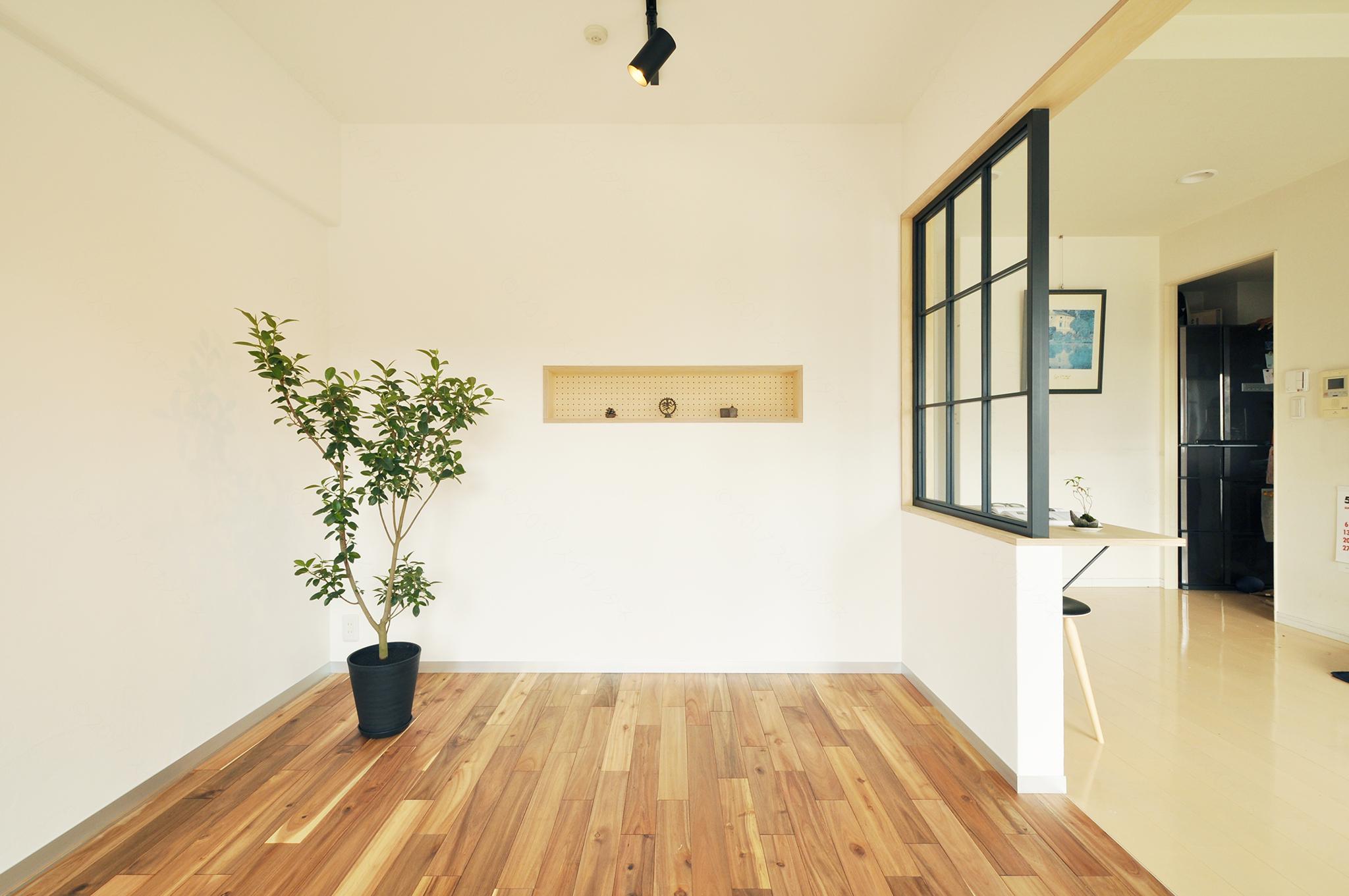 新潟市のマンション、和室のリノベーション ビュー2